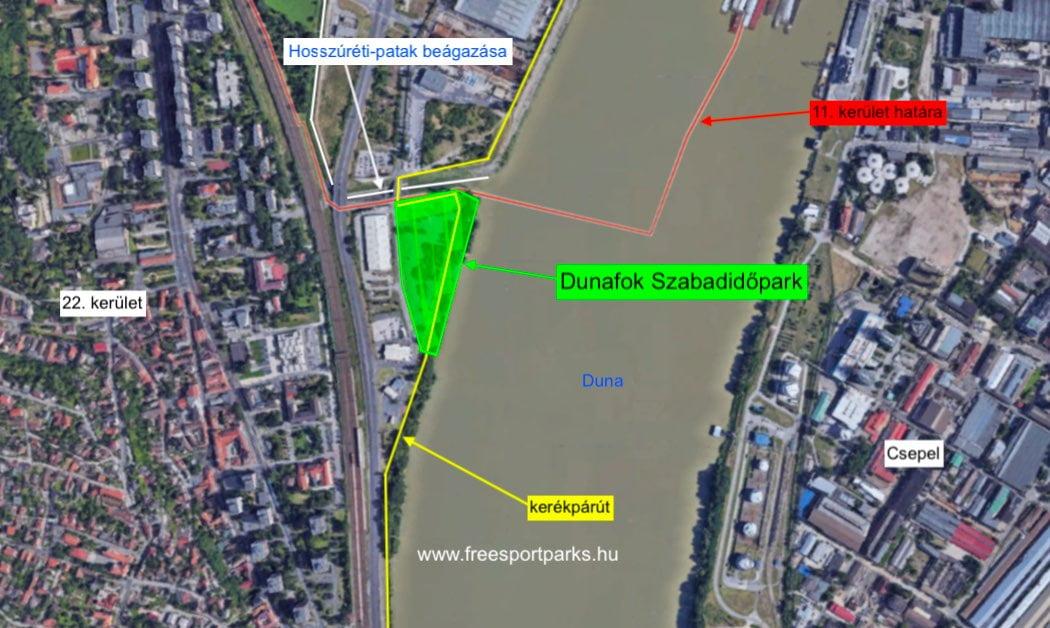 Dunafok Szabadidőpark és környezete a térképen
