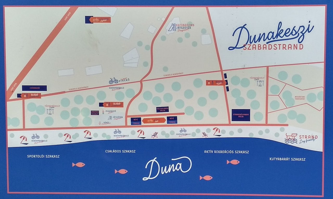Dunakeszi Szabadstrand térképe