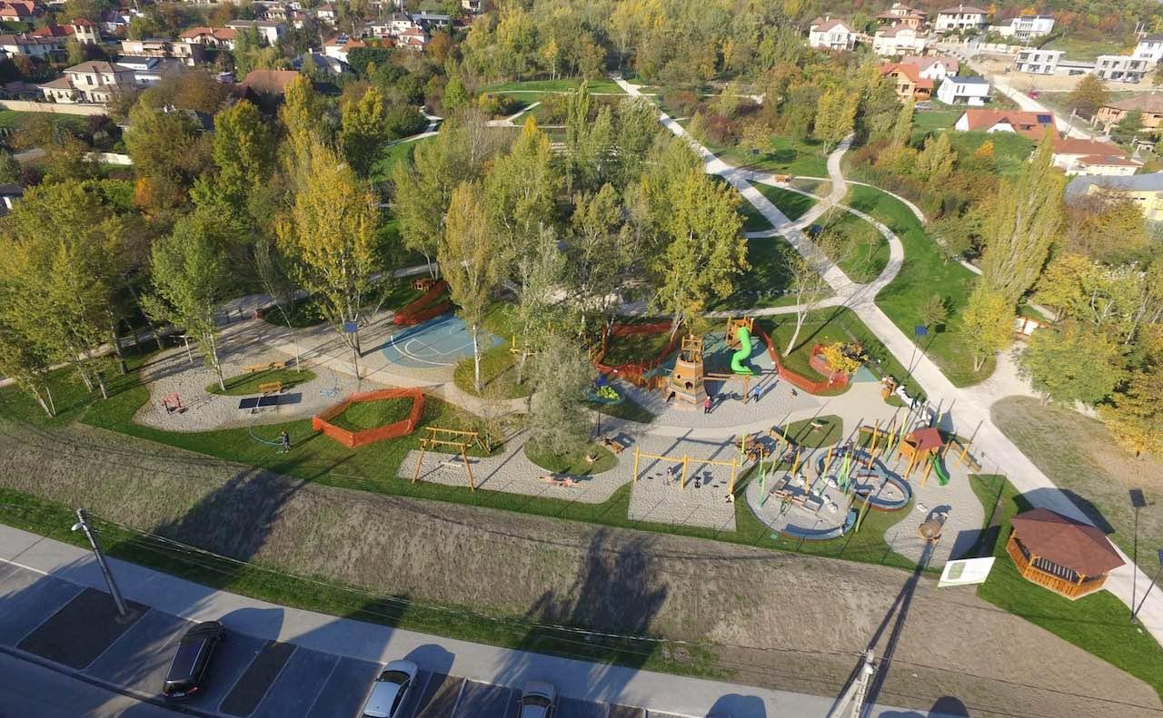 Meszkő park felülről