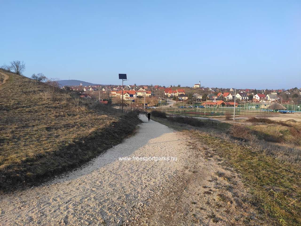 a panoráma futókör Sukoró sportpark felöli oldala - Free Sport Parks térkép