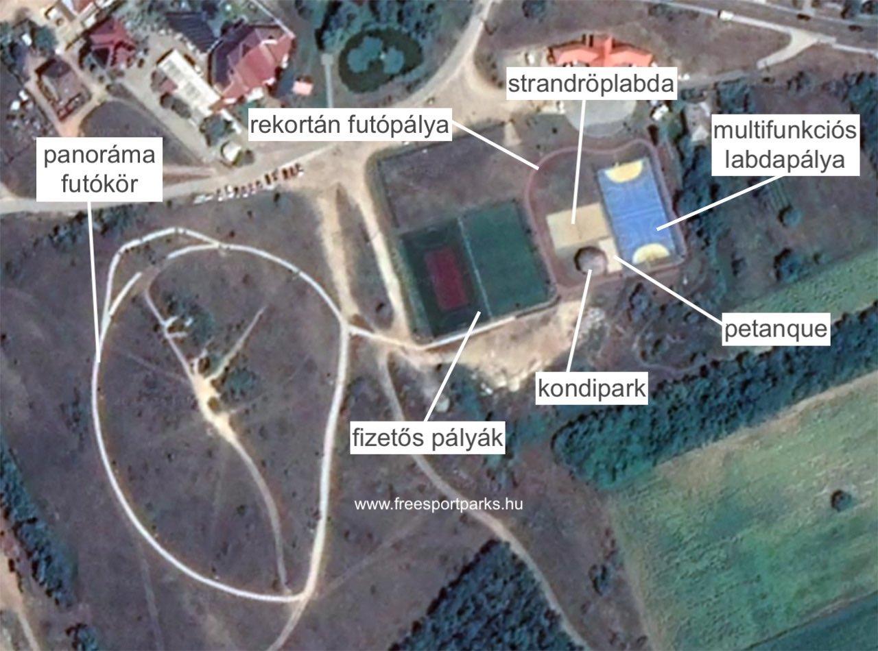 Sukoró sportpark sportlehetőségei