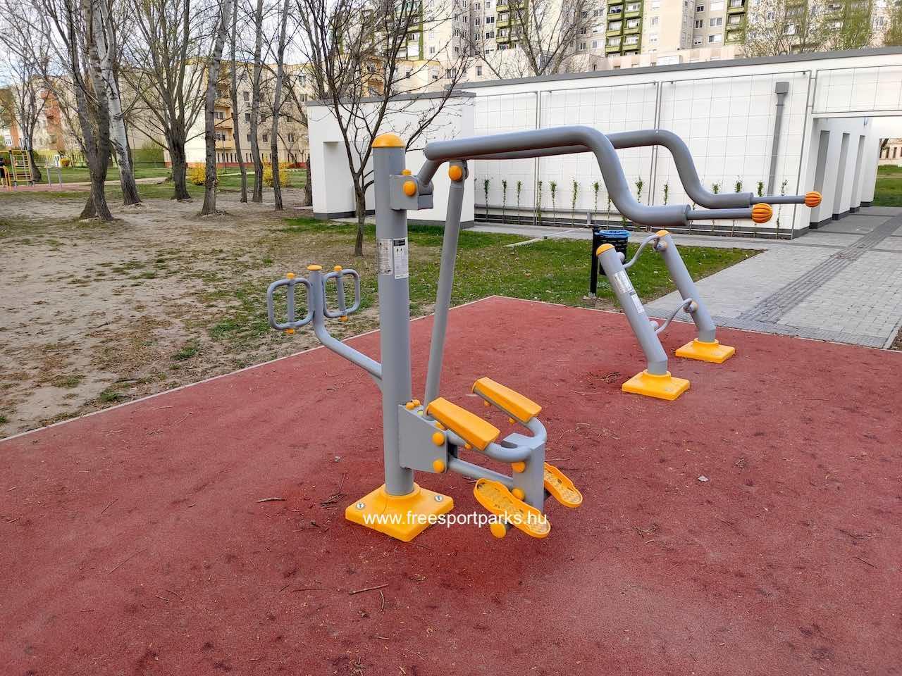 Testmozgató gép az integrált fitneszparkban