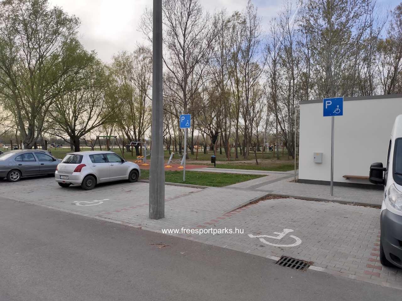 parkoló sor Palotavárosi szabadidőpark - Free Sport Parks térkép
