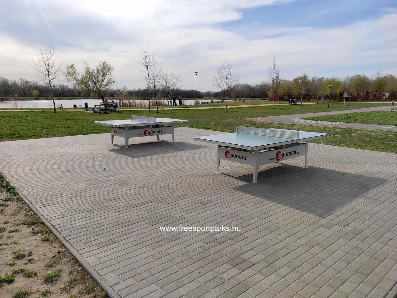 ping-pong asztalok kövezett talajon - Palotavárosi szabadidőpark - Free Sport Parks térkép