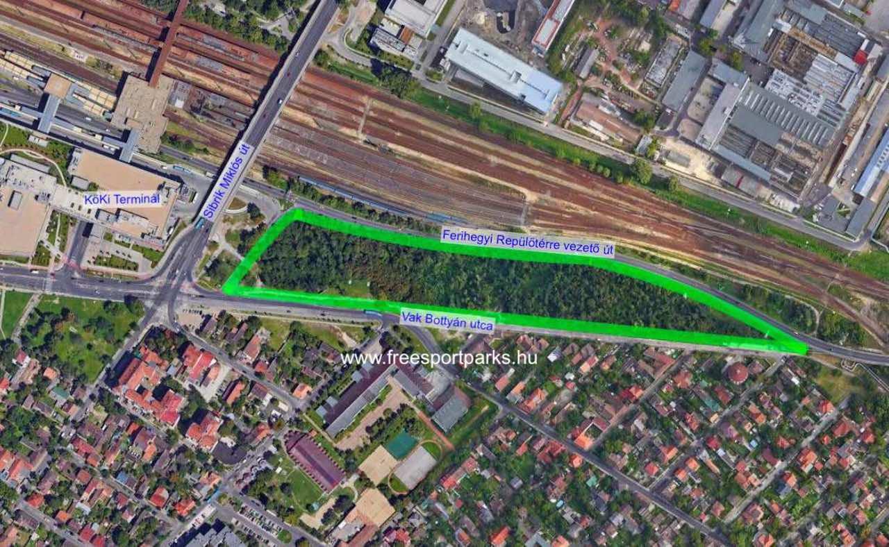 Kúttói parkerdő elhelyezkedése - Free Sport Parks térkép