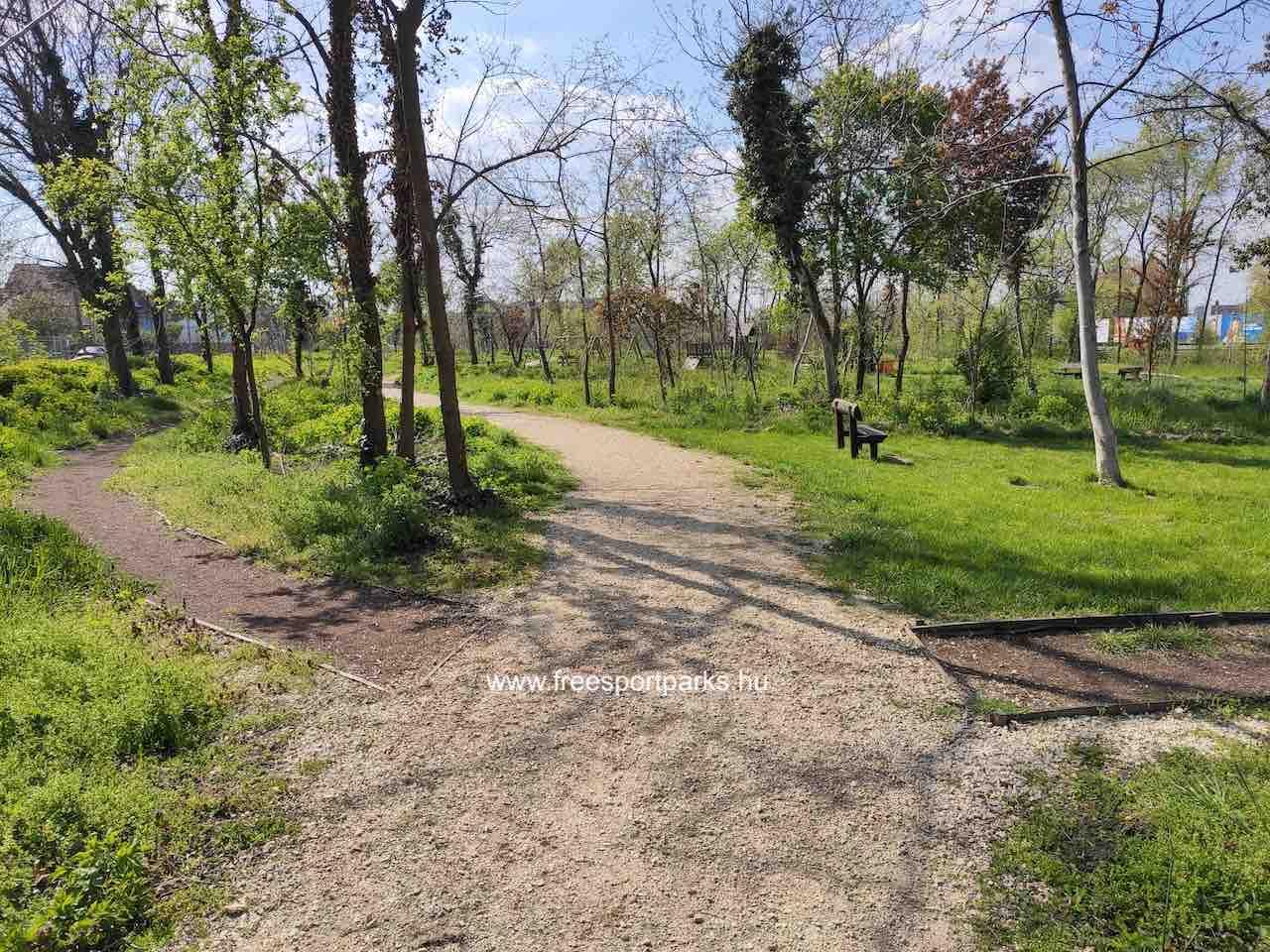 Kúttói parkerdő sétány - Free Sport Parks térkép
