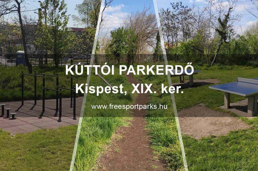 Kúttói parkerdő, Kispest 19. kerület - Free Sport Parks térkép