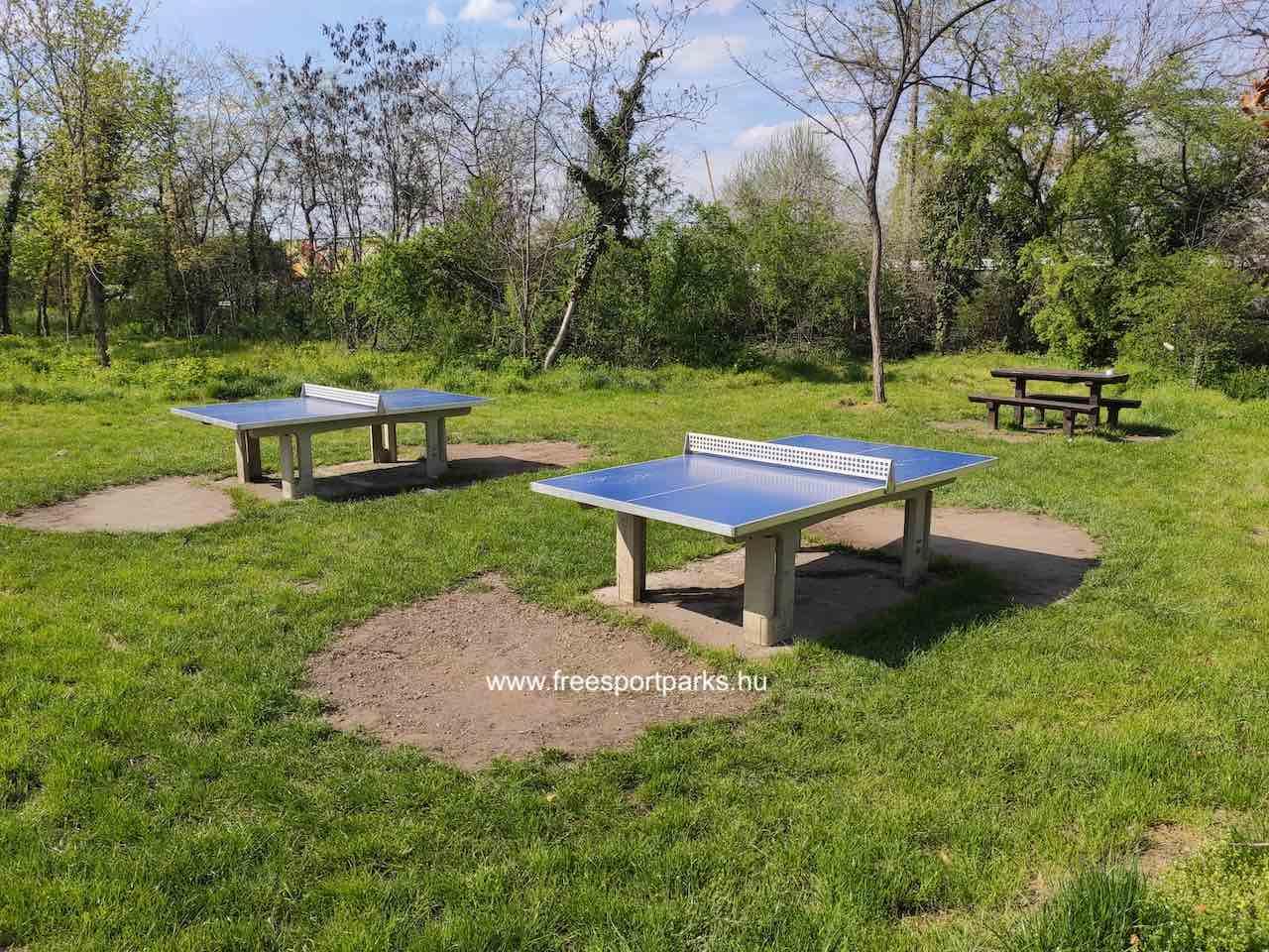 Kúttói parkerdő ping-pong asztalok - Free Sport Parks térkép