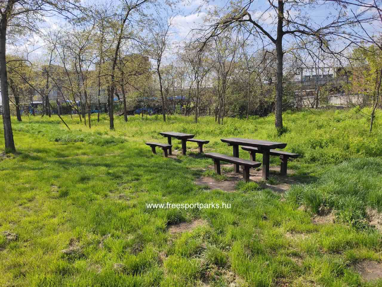 Kúttói parkerdő sakkozásra alkalmas asztalok - Free Sport Parks térkép