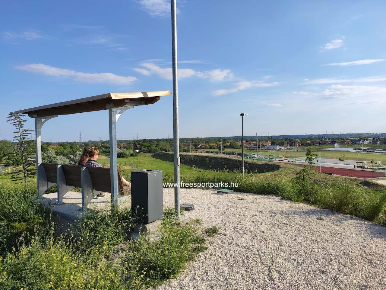 kilátó-domb - Érdliget szabadidőpark - Free Sport Parks térkép
