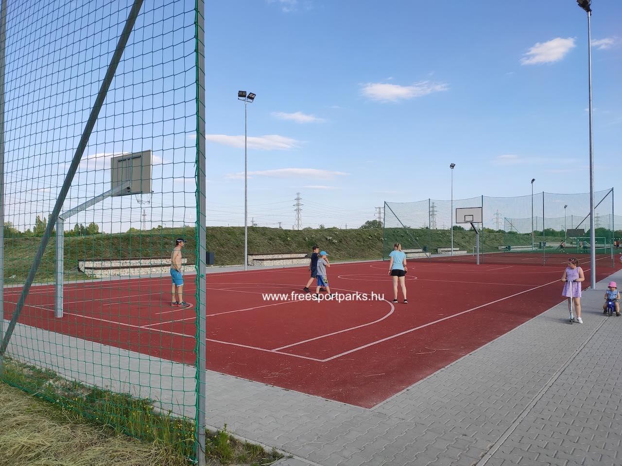 kosárlabda pálya - Érd szabadidőpark - Free Sport Parks térkép