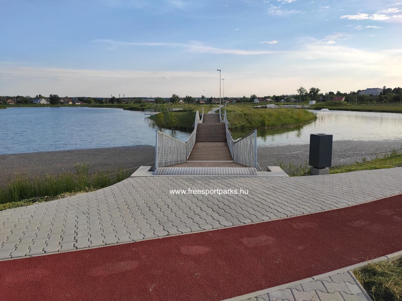 napozó-sziget hídja - Érd szabadidőpark - Free Sport Parks térkép