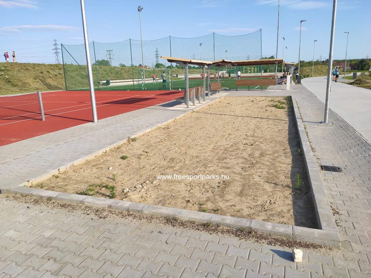 petanque pálya - Érd szabadidőpark - Free Sport Parks térkép