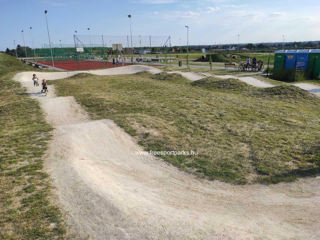 pump track pálya - Érd szabadidőpark - Free Sport Parks térkép