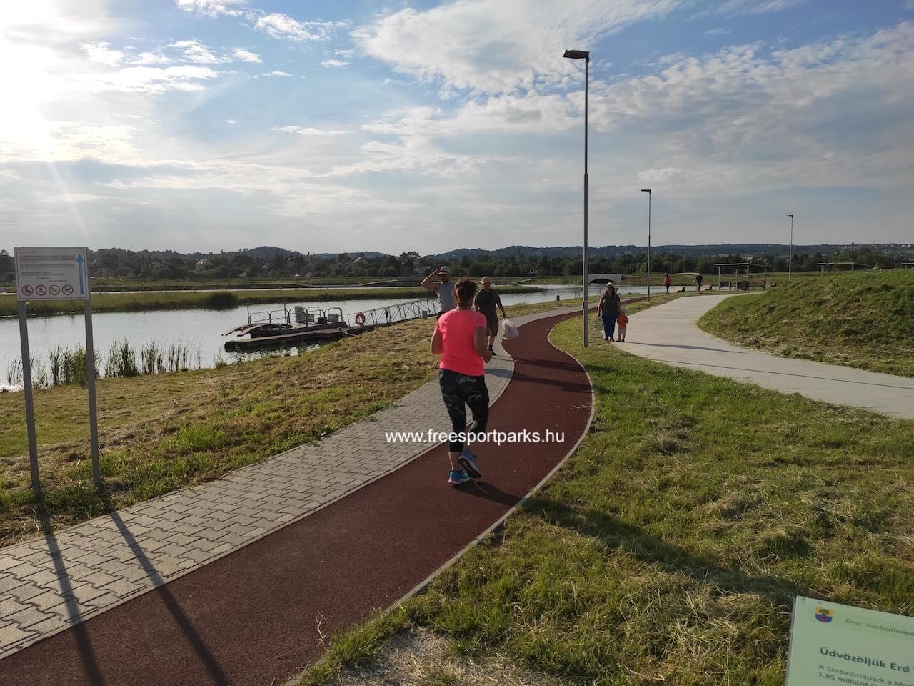 rekortán futópálya - Érd szabadidőpark - Free Sport Parks térkép