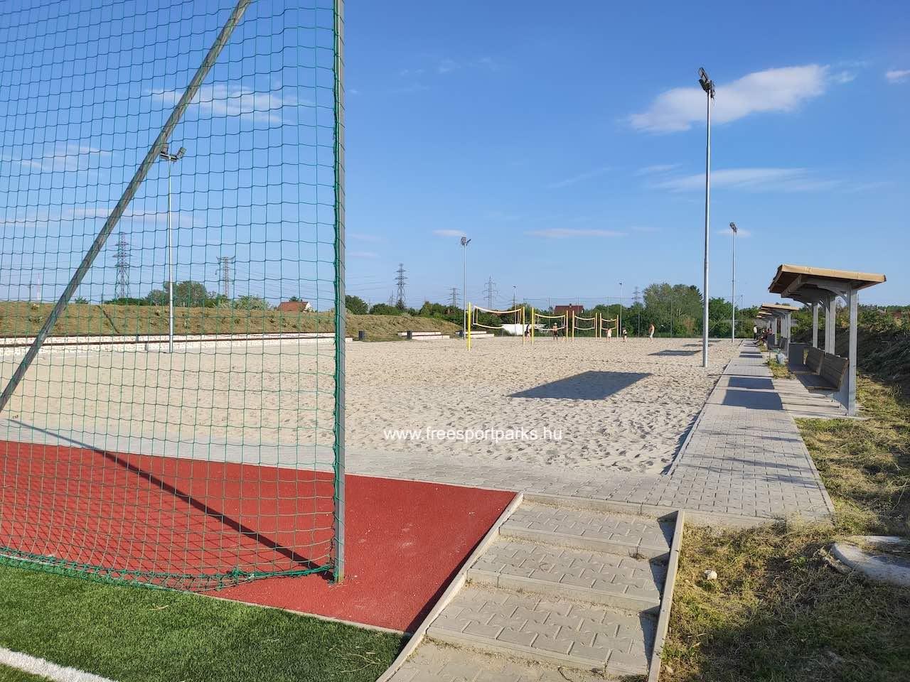 strandröplabda pálya - Érd szabadidőpark - Free Sport Parks térkép