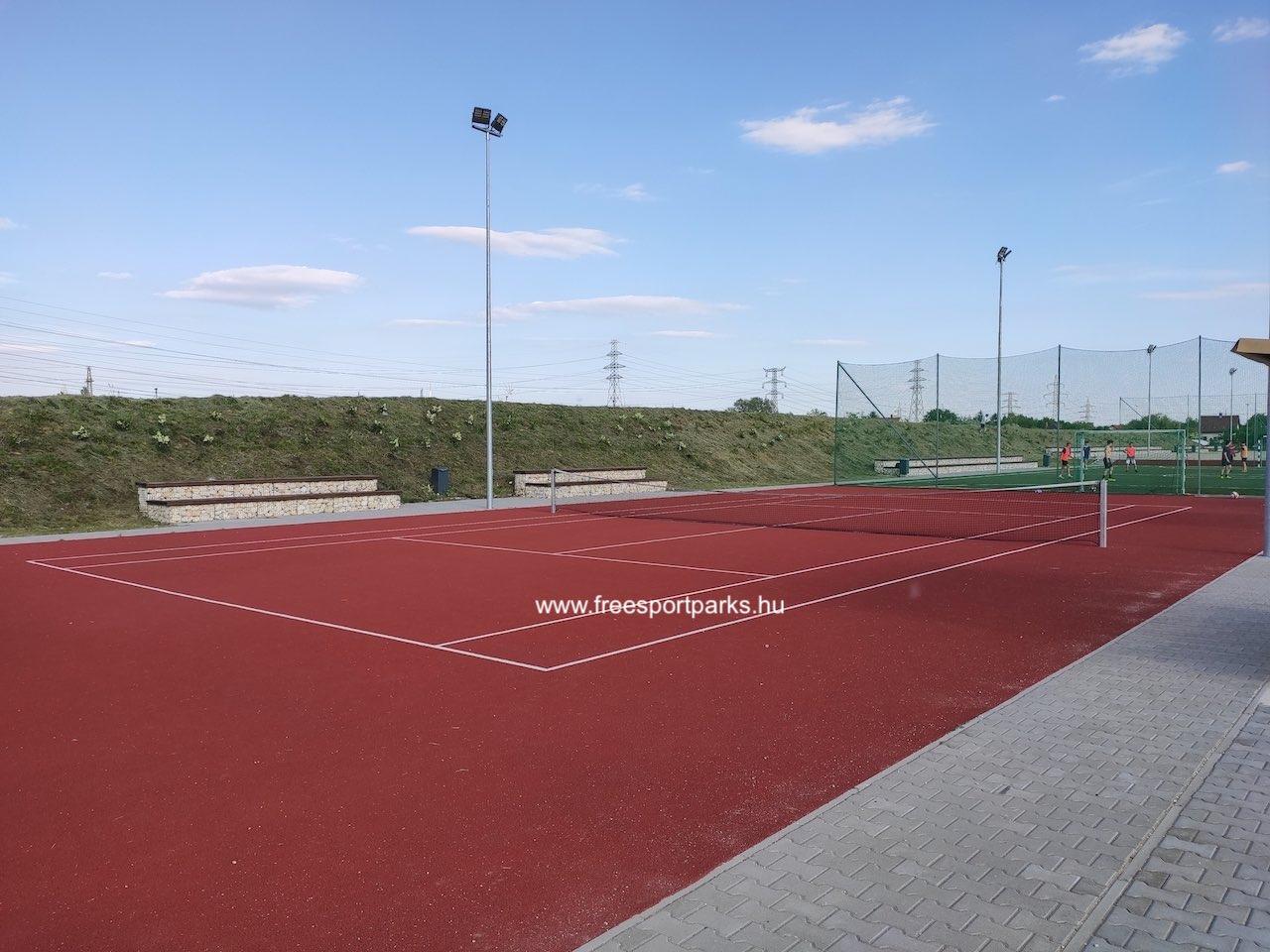 teniszpálya - Érd szabadidőpark - Free Sport Parks térkép