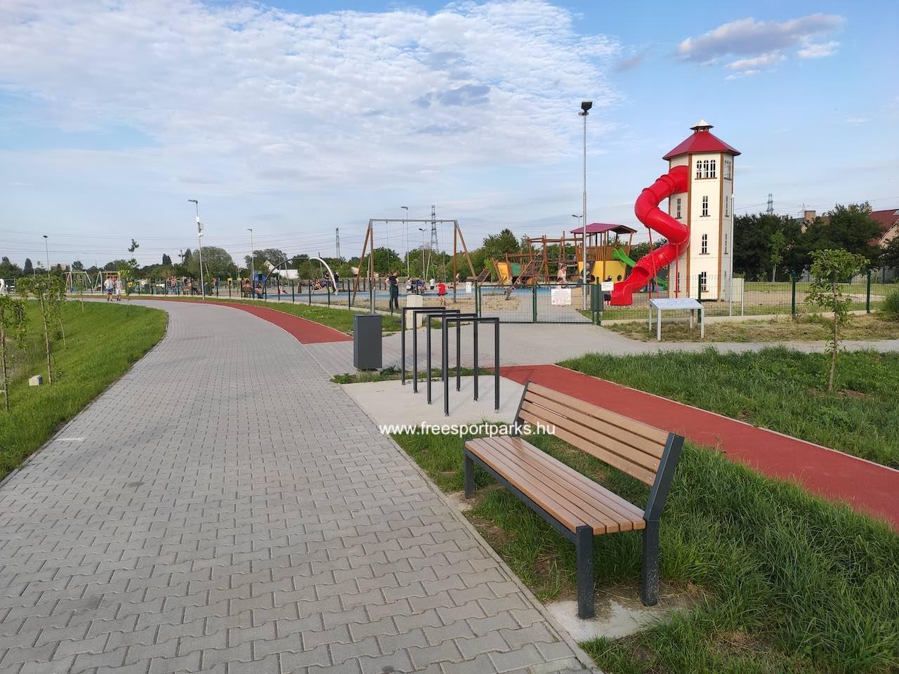 vizes játszótér - Érdliget szabadidőpark - Free Sport Parks térkép